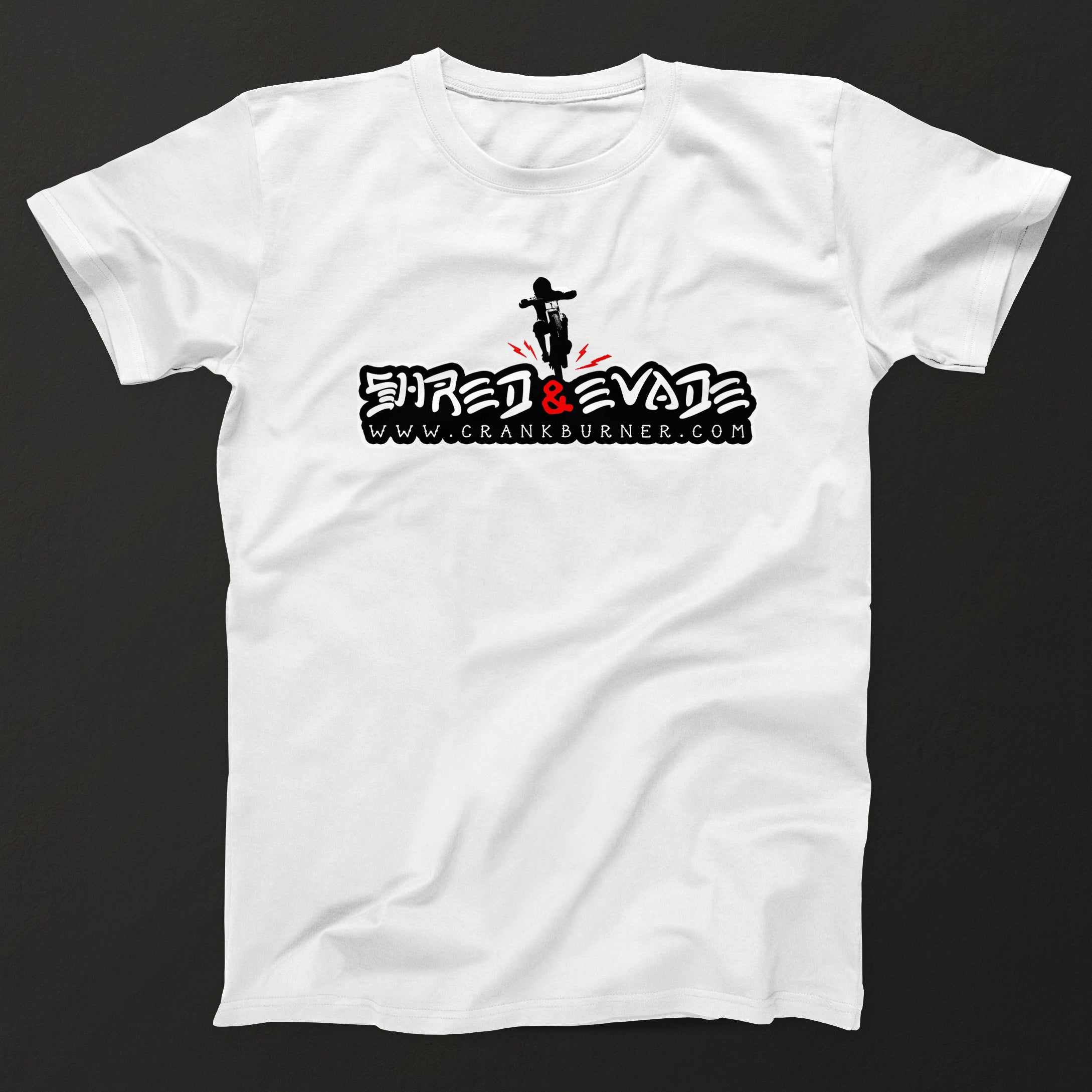 Shred and Evade - White T-shirt