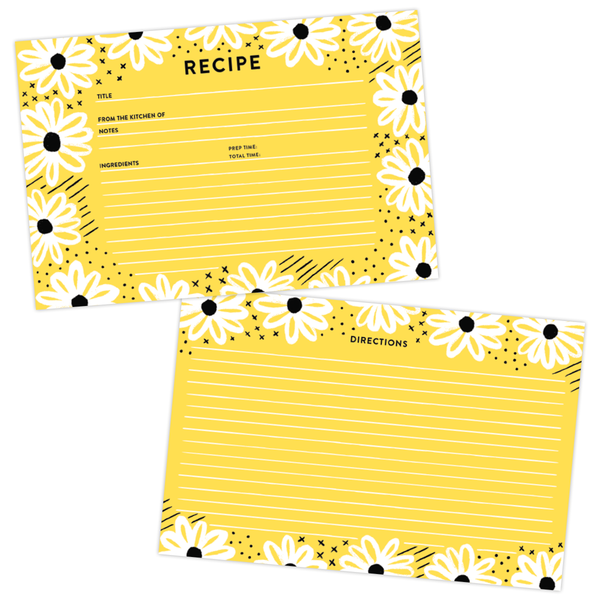 Daisy Day Sunny Recipe Card Set