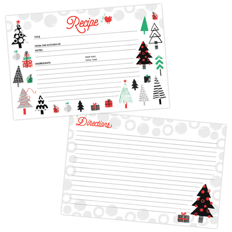 Merry Trees Recipe Card Set