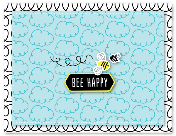 Mini Bee Happy Clear Stamp