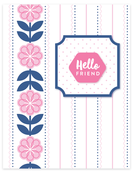 Mini Greetings Clear Stamp
