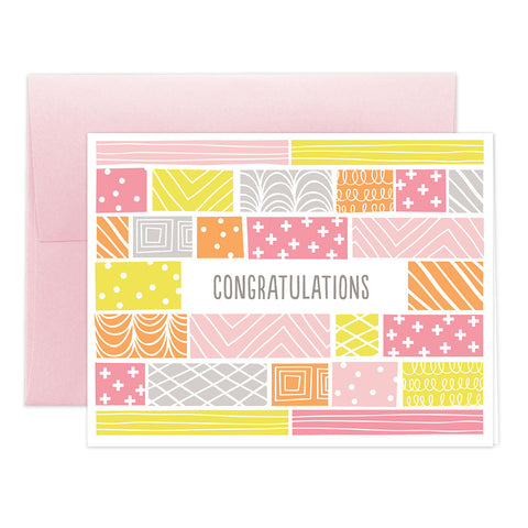 Baby Girl Quilt Greeting Card