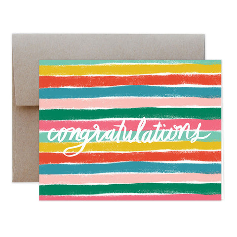 Stripey Congrats Greeting Card