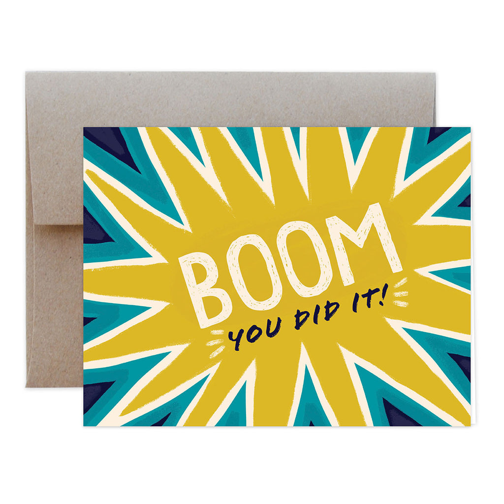 Boom You Did It Greeting Card