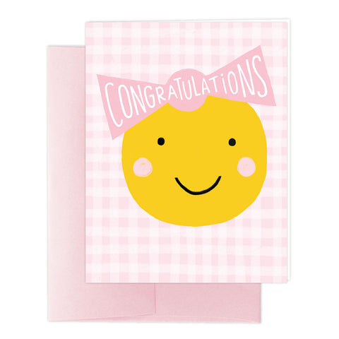 Smiley Baby Girl Greeting Card