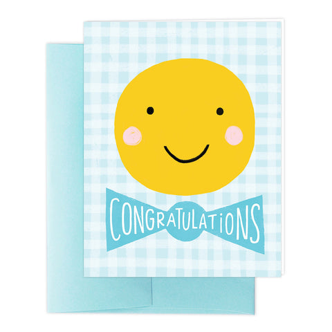 Smiley Baby Boy Greeting Card
