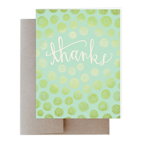 Scribbled Thanks Greeting Card