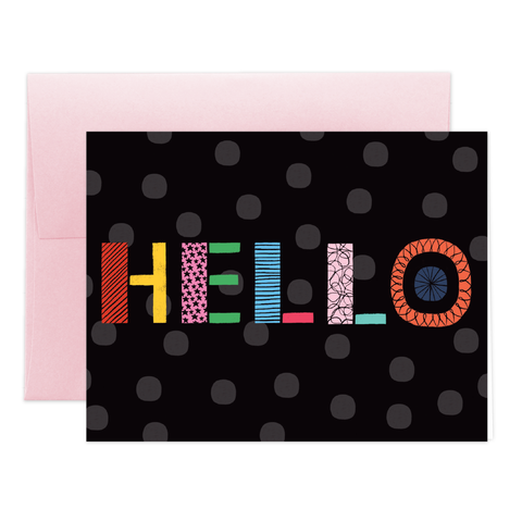 Geo Hello Greeting Card