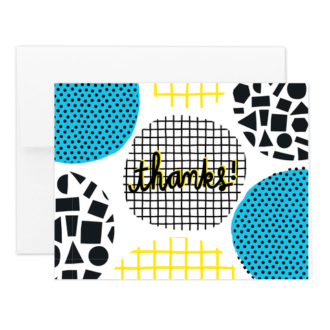 Geo Thanks Greeting Card