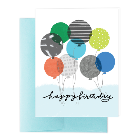 Cool Balloons Greeting Card