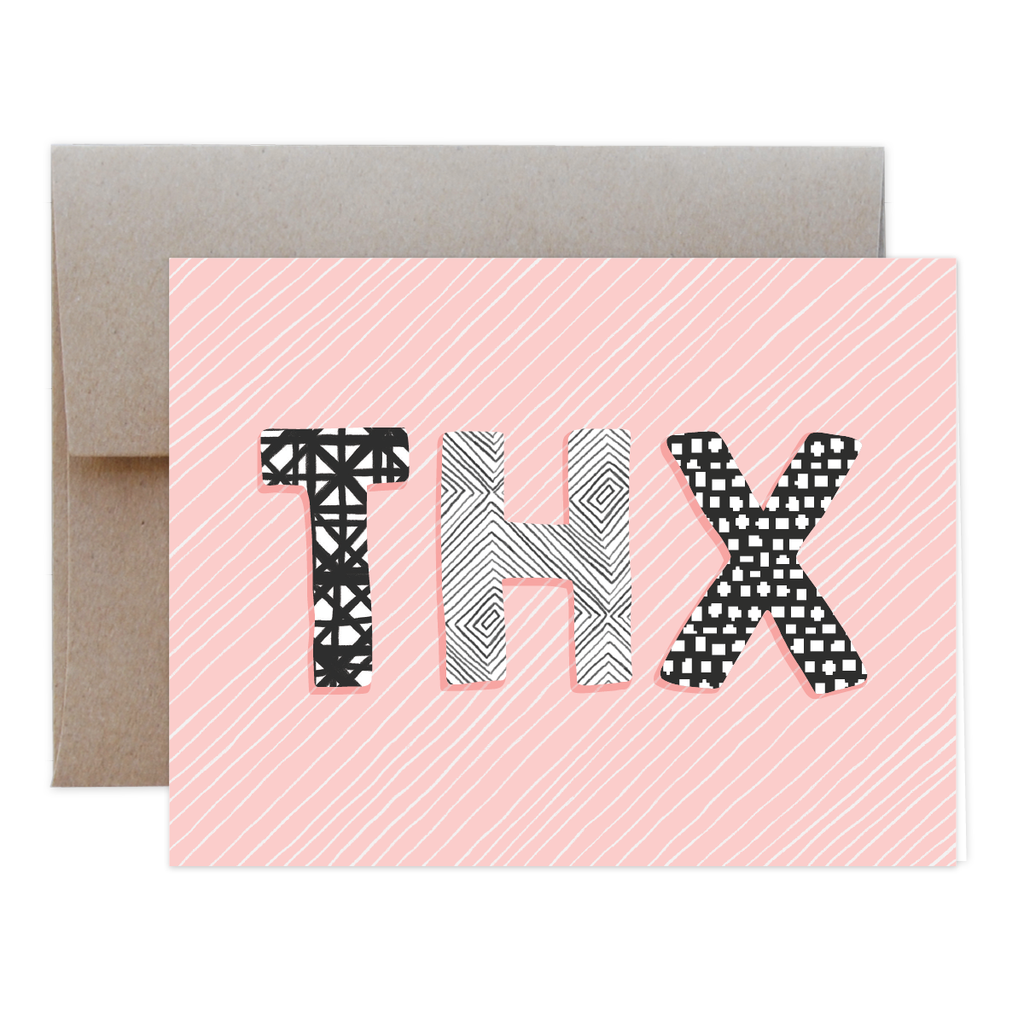Thx Blush Greeting Card