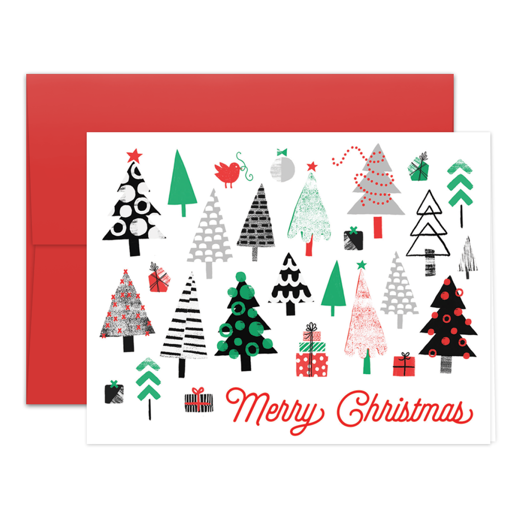 Merry Trees Greeting Card