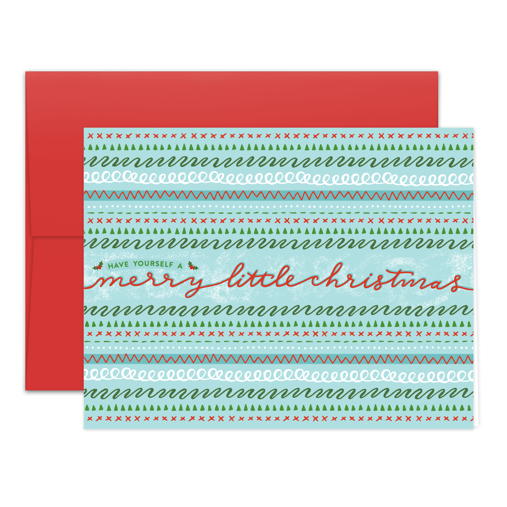 Merry Borders Greeting Card