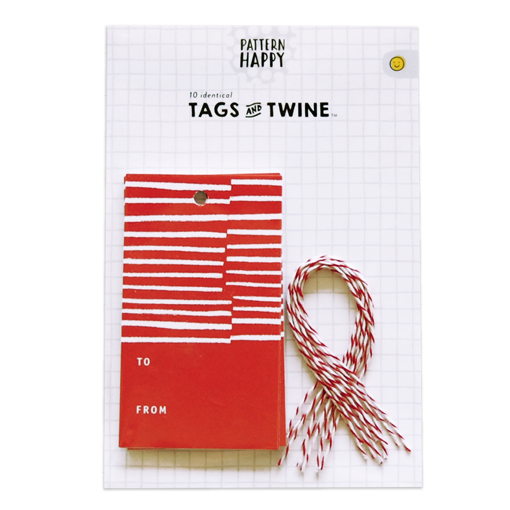 Candy Stripe Gift Tag Set