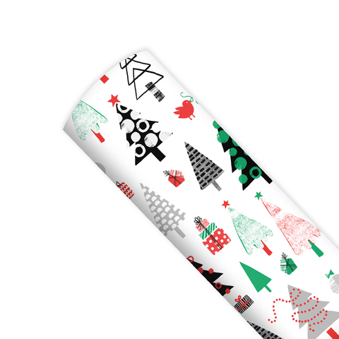 Merry Trees Gift Wrap