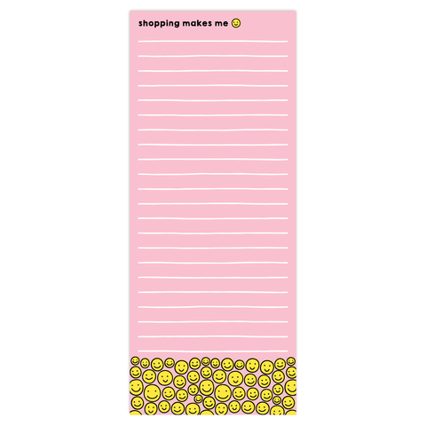 Smiley Shopper Tall Pad