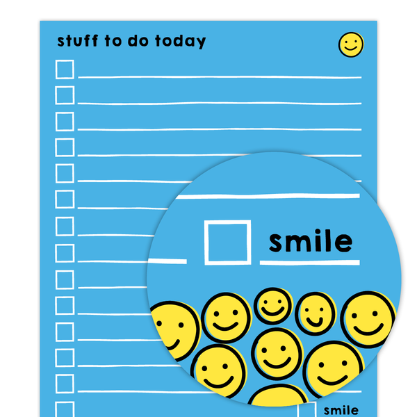 Smiley To Do Small Pad