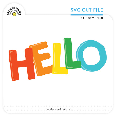Rainbow Hello | SVG Cut File