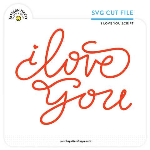 I Love You Script | SVG Cut File
