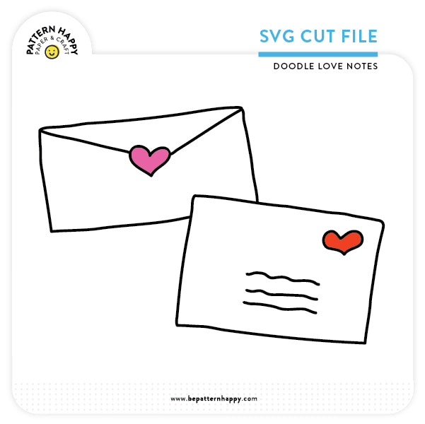 Doodle Love Notes | SVG Cut File