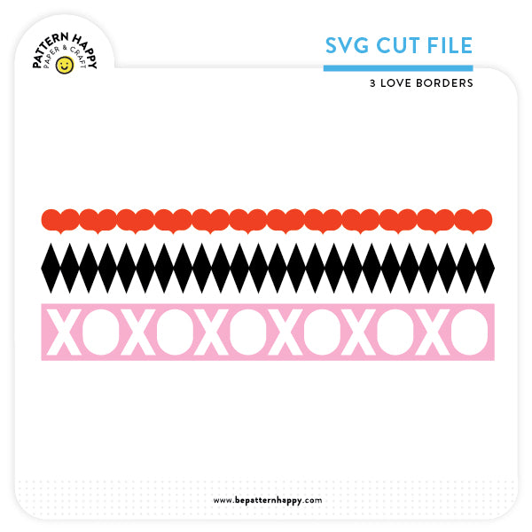 3 Love Borders | SVG Cut File