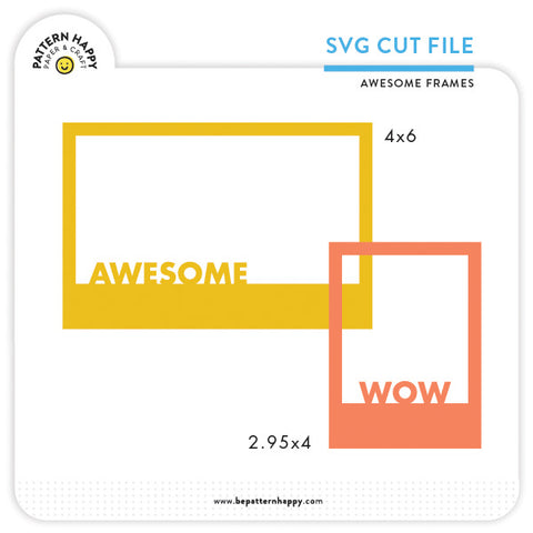 Awesome Frames | SVG Cut File