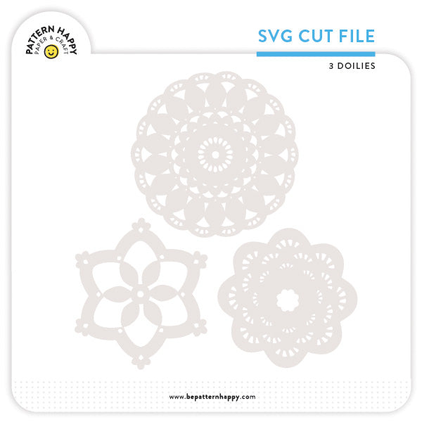 3 Doilies | SVG Cut File