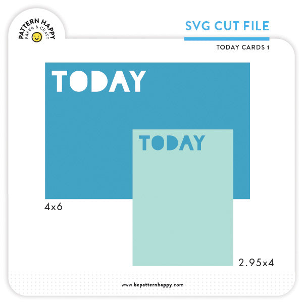 Today Cards 1 | SVG Cut File