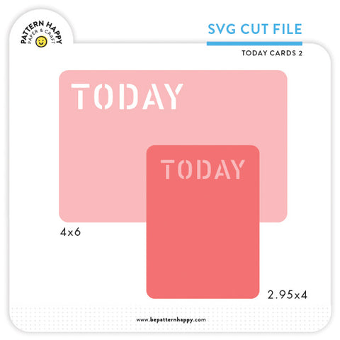 Today Cards 2 | SVG Cut File