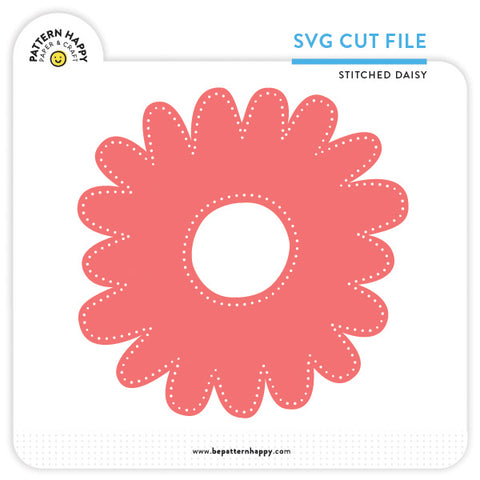Stitched Daisy | SVG Cut File