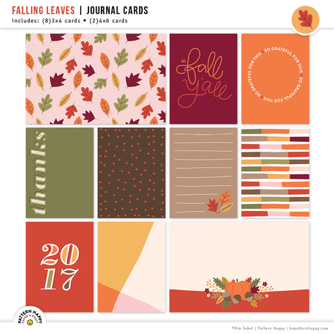 Falling Leaves | Journal Cards