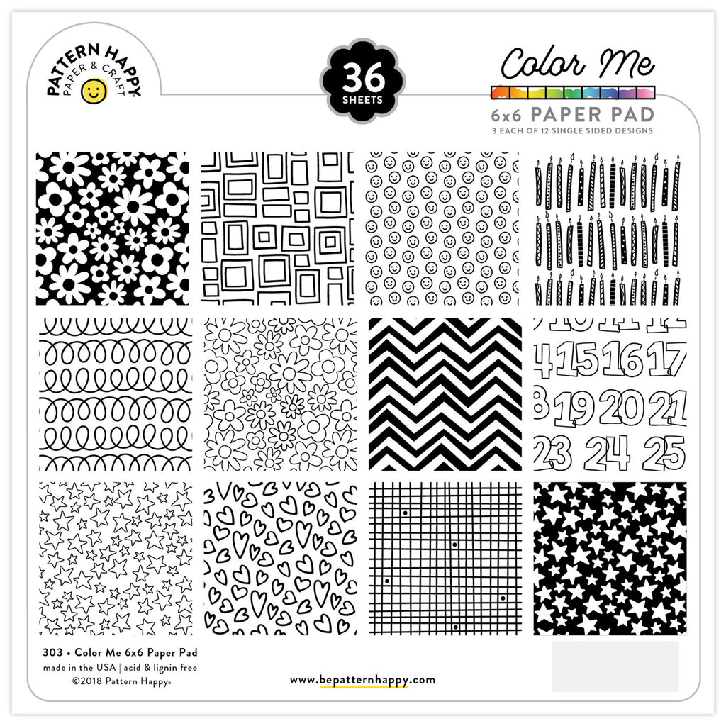 Color Me 6x6 Paper Pad