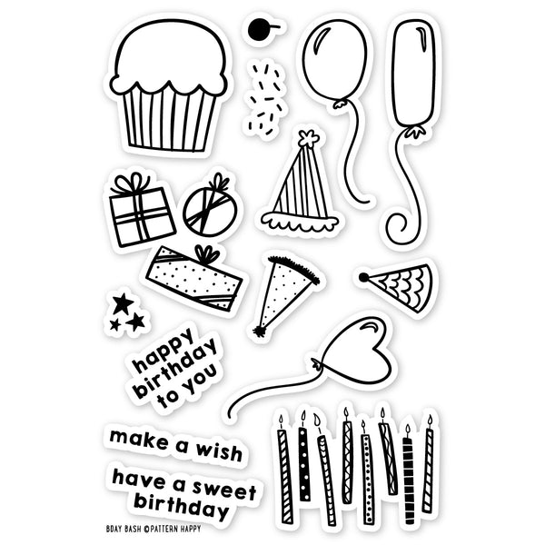Bday Bash Clear Stamp