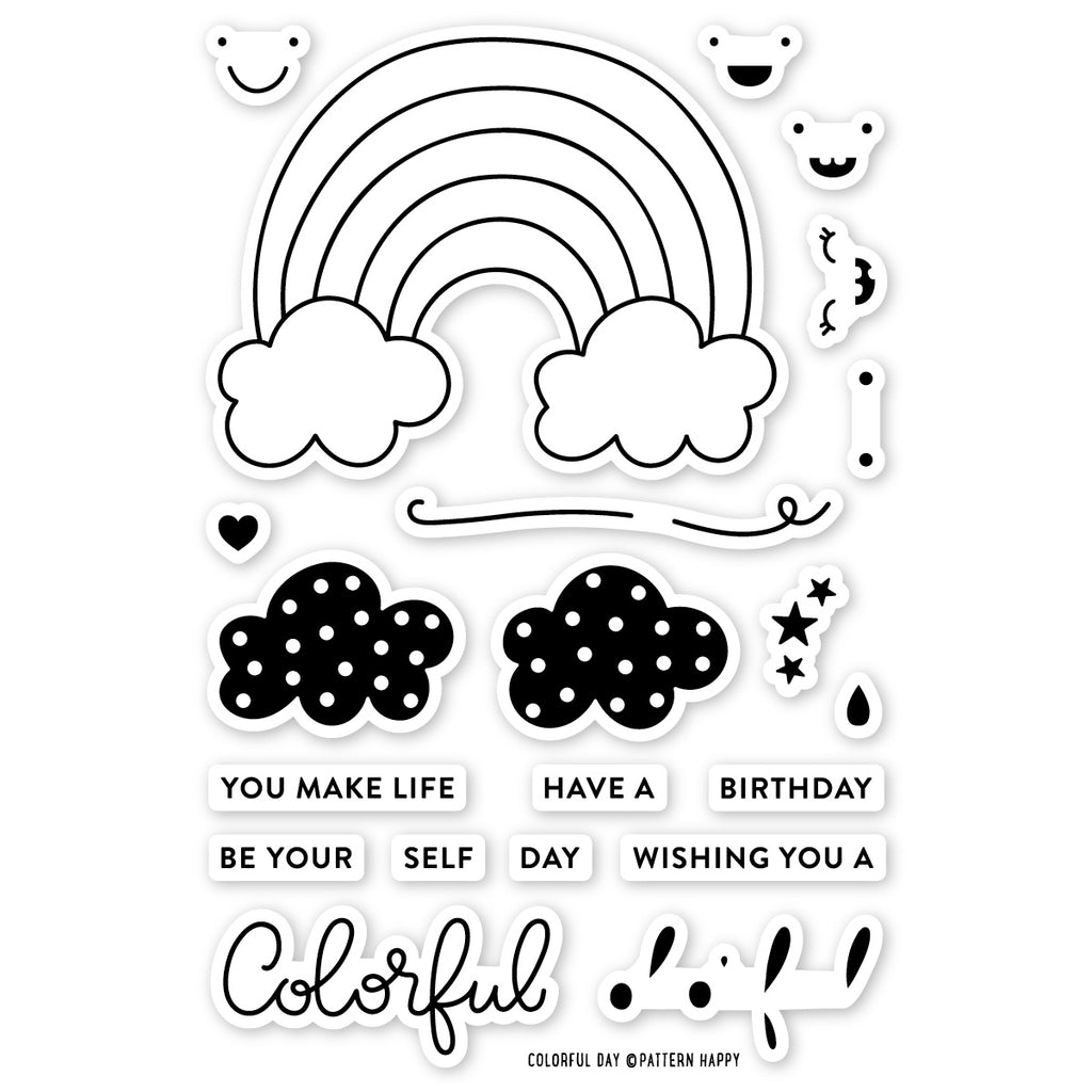 Colorful Day Clear Stamp