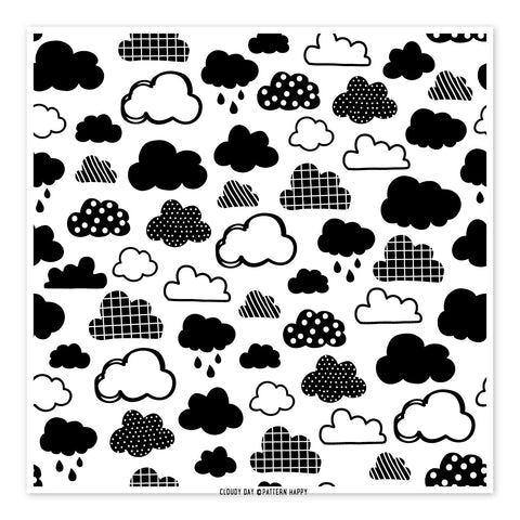 Cloudy Day Pattern Clear Stamp
