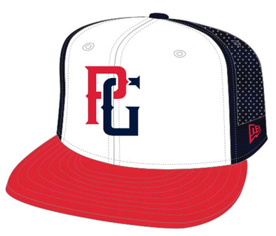Perfect Game x New Era Mesh Back 59FIFTY Hat - Red, White & Blue - Perfect Game Apparel