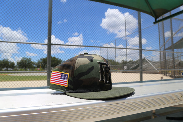 Perfect Game New Era 59fifty Armed Forces Woodland Hat - PG Apparel