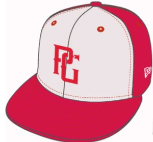 ATL New Era 5950 PG RED_WHITE Diamond Era