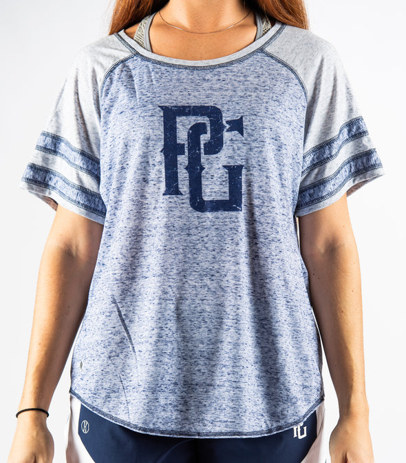 Perfect Game Apparel - Ladies Advocate Varsity Tee - Perfect Game Apparel