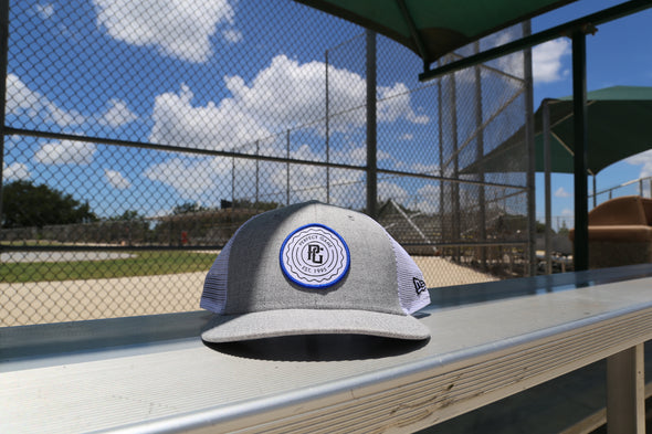 Perfect Game New Era 9fifty Heather Grey & Trucker Mesh Snapback - PG Apparel