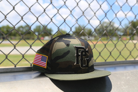 Perfect Game New Era 59fifty Armed Forces Woodland Hat
