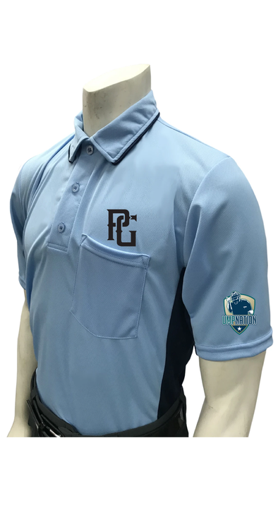 UmpNation Polo - Powder Blue - Perfect Game Apparel