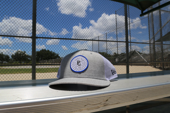 Perfect Game New Era 9fifty Heather Grey & Trucker Mesh Snapback - Perfect Game Apparel