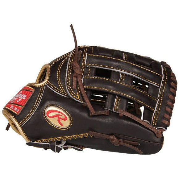 Rawlings Gold Glove 12.75 in Mocha Outfield Glove Pro H Web, Conventional Back