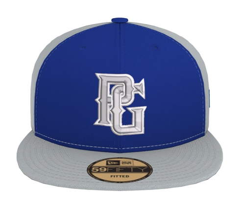 Perfect Game New Era 59FIFTY Hat - Grey & Royal - PG Apparel