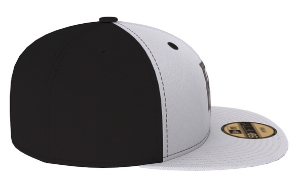 Perfect Game New Era 59Fifty Hat - Black & White - PG Apparel