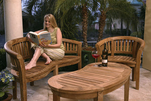 5 Bestselling Teak Wood Furniture Collections to Upgrade Your Outdoor Space: Chairs, Benches, Swings and Coffee Tables