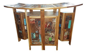 Upgrade your indoor or outdoor space with Recycled Teak Boat Furniture!
