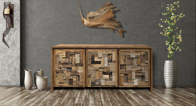 Our Recycled Teak Furniture is Impressive and Eco-Friendly: Media Centers, Buffets, Dressers, Cupboards and more!