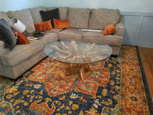 Teak Wood Root Coffee Table Including 43 Inch Glass Top